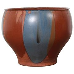 David Cressey Flame Glazed Planter for Architectural Pottery