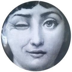 Atelier Fornasetti Tema E Variazoini Plate, Pattern Number 130