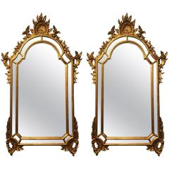 Two LaBarge Gilt Rococo Style Mirrors
