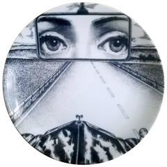 Atelier Fornasetti Tema E Variazoini Plate, Pattern Number 321
