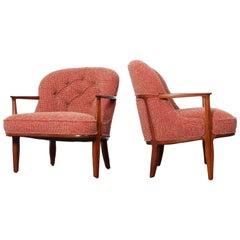 Pair of Dunbar Janus Lounge Chairs