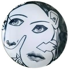 Fornasetti Tema E Variazoini Plate, Themes and Variations, Pattern Number 164