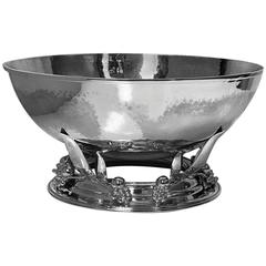 Large Carl Poul Petersen Sterling Silver Bowl, Montreal, circa 1940