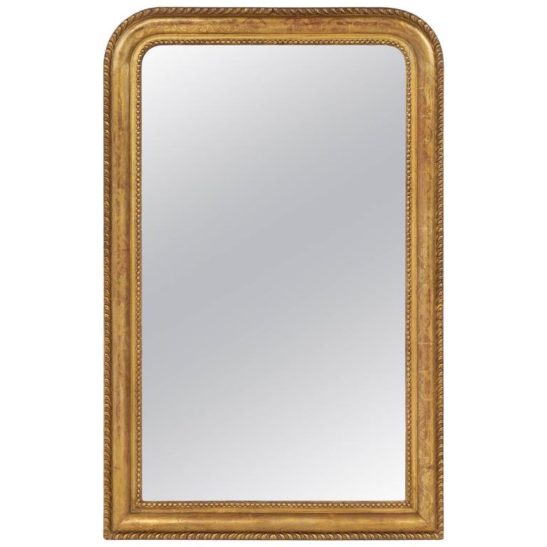 gold leaf louis philippe period beaded mirror at 1stdibs