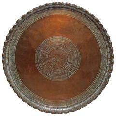 19th Century Middle Eastern Copper Tray