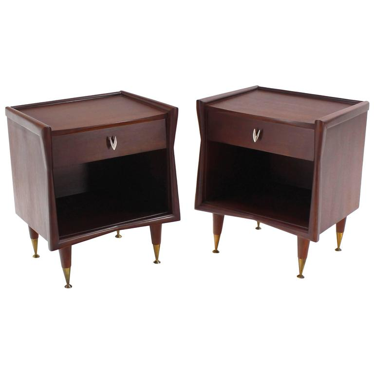 Pair of American Modernist End Tables