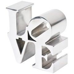 "Vintage Robert Indiana ""Love"" Paperweight Sculpture / Desk Accessory"