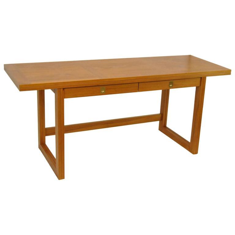 Beni Mobler 2 In 1 Danish Teak Folding Desk Dining Table For
