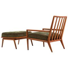 T.H. Robsjohn-Gibbings Lounge Chair and Ottoman