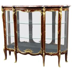 Fantastic Late 19th Century Gilt Bronze Mounted Vitrine by François Linke