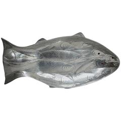 Arthur Court Polished Aluminum Fish Serving Platter