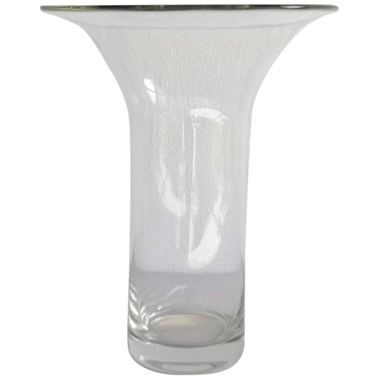 Mid-Century French Blown Glass Vase