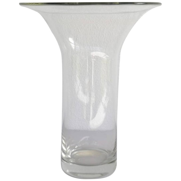 Midcentury French Blown Glass Vase For Sale