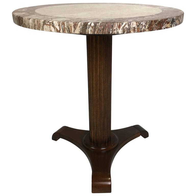 Neoclassical Italian Gueridon with Marble Top