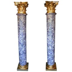 Pair of Amethyst Empire Style Columns