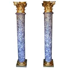 Pair of Amethyst Empire Style Columns