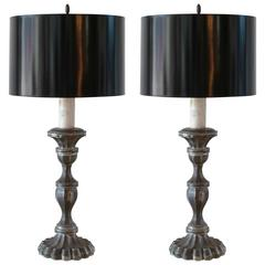 Pair of Mexican Candelabra Table Lamps