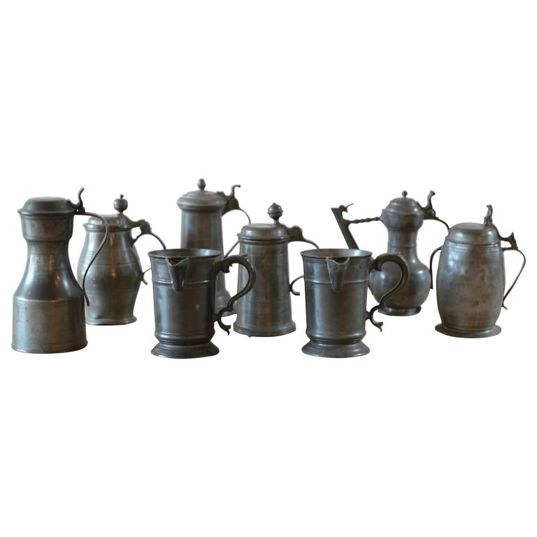 Various Pewter Steins  For Sale