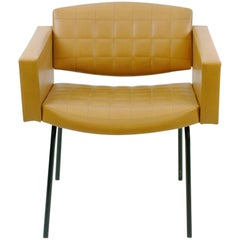 Midcentury Modern Cognac  Armchair by Pierre Guariche for Meurop