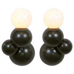 Bubbly 01-Light Wall, Modern Molecule Sculptural Sconce, Oil-Rubbed Bronze, Pair