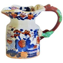 "Early Mason's Ironstone Cream Jug or Pitcher, ""Japan Basket"" Pattern, circa 1820"