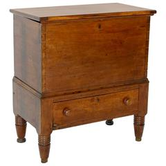 19th Century Cherrywood Sugar Chest with One Drawer