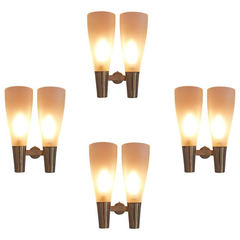 Four Wall Lights by Pietro Chiesa for Fontana Arte 1