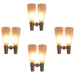 Four Wall Lights by Pietro Chiesa for Fontana Arte