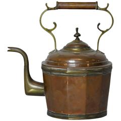19th Century Copper and Brass Water Pot