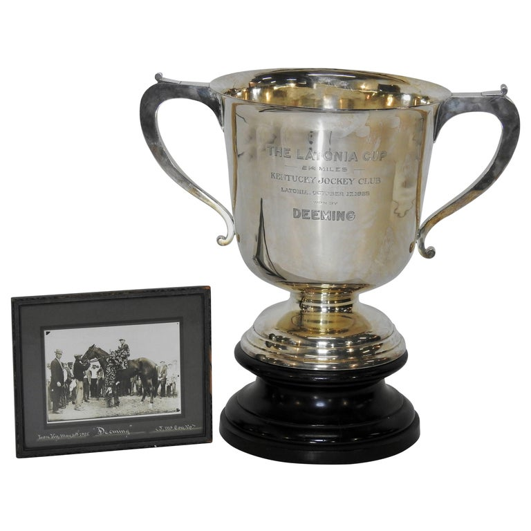 Sterling Silver 1925 Kentucky Latonia Horse Race Cup For Sale