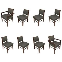 Set of Eight Taliesin Dining Chairs by Frank Lloyd Wright for Heritage-Henredon