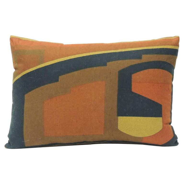 Mid Century Modern Couch Pillows : Vintage Mid-Century Modern Knoll Multi-Color Textile Decorative Pillow at 1stdibs