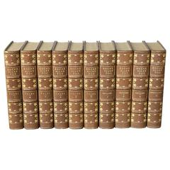 Fine Set of Ten Leather Bound Volumes, The Complete Works of Edgar Allan Poe