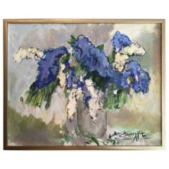 Still Life with White and Blue Lilacs