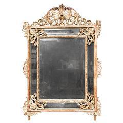Gilt Carved Wood Oak Leaf And Acorn Framed Mirror For