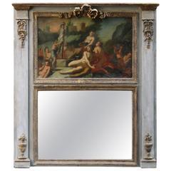 18th Century Italian Neoclassical Trumeau Mirror