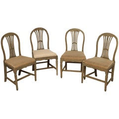 Matched Set of Four Gustavian Dining Chairs