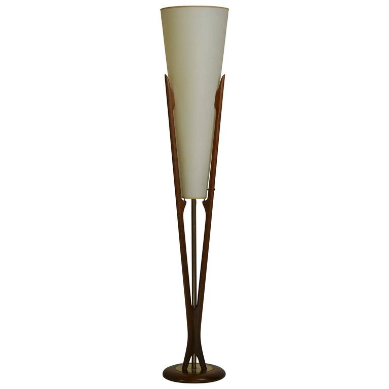 adrian pearsall mid century modern floor lamp for sale at 1stdibs. Black Bedroom Furniture Sets. Home Design Ideas