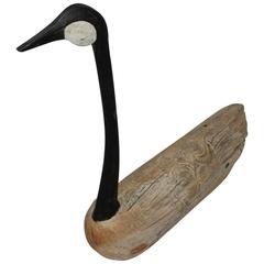1930s Hand-Carved and Painted Goose Decoy from Diamond, Missouri