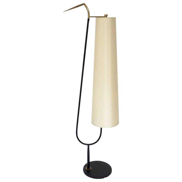 Maison Lunel French Standing Floor Lamp With Cream Linen