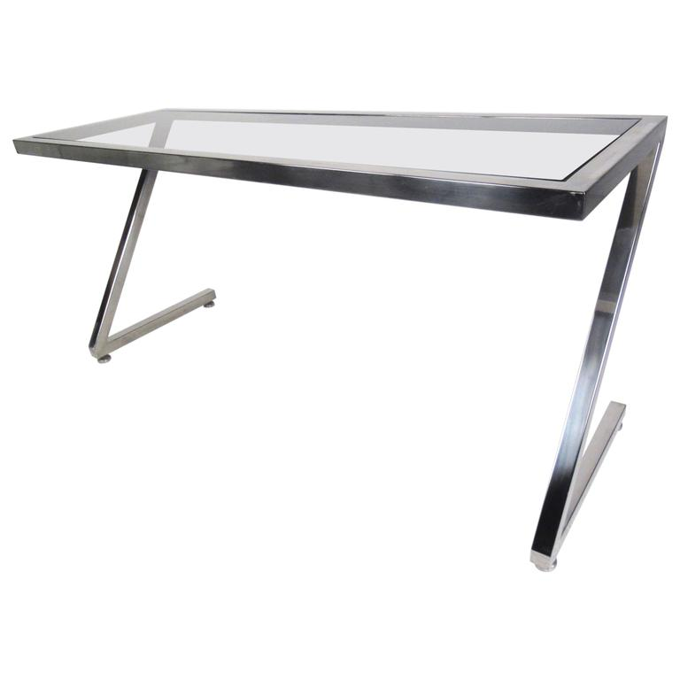 Contemporary Modern Cantilever Z-Frame Console Table