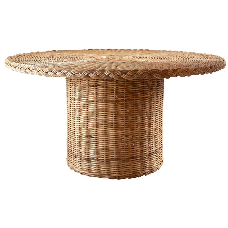 round rattan dining table at 1stdibs