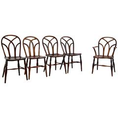 Set of Ten Farmhouse Style Dining Chairs