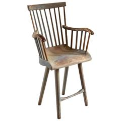 Tall Primitive Spindle Side Chair