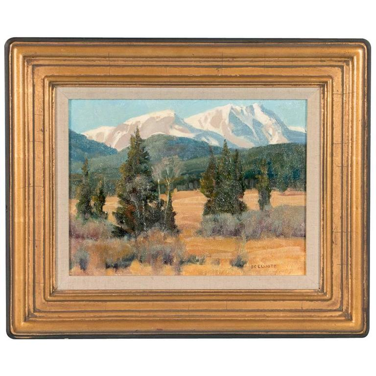 Stephen Elliott Original Oil Painting, Rocky Mountain