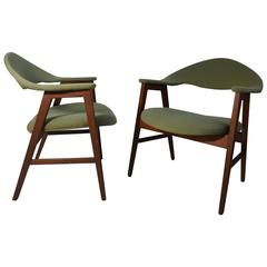 Pair of Danish Modern Lounge Chairs, Manner of Finn Juhl