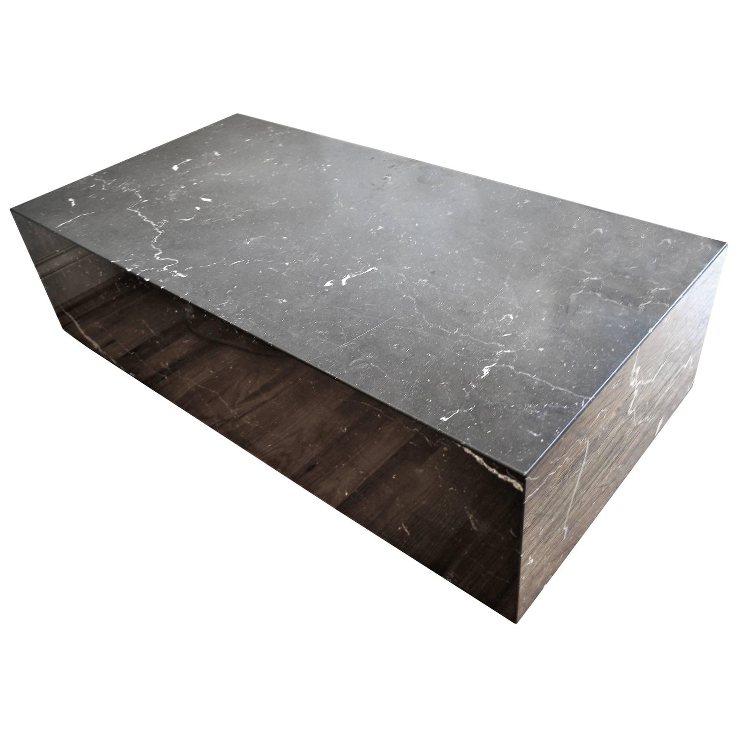 Mid Century Modern Italian Black Marble Rectangle Low Coffee Table For Sale At 1stdibs