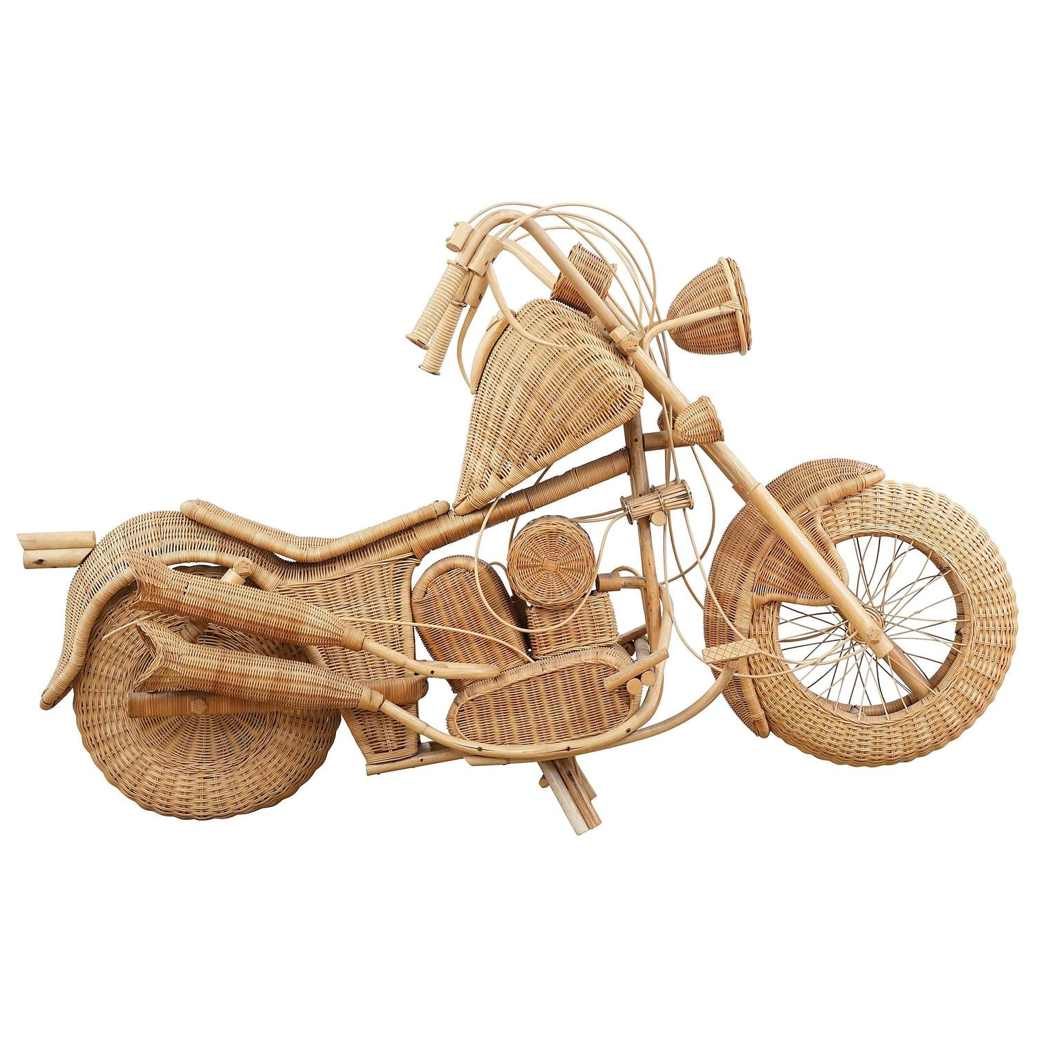 Vintage Wicker Motorcycle For Sale at 1stdibs