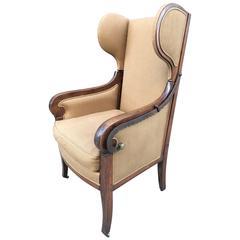 Biedermeier Wingback Chairs