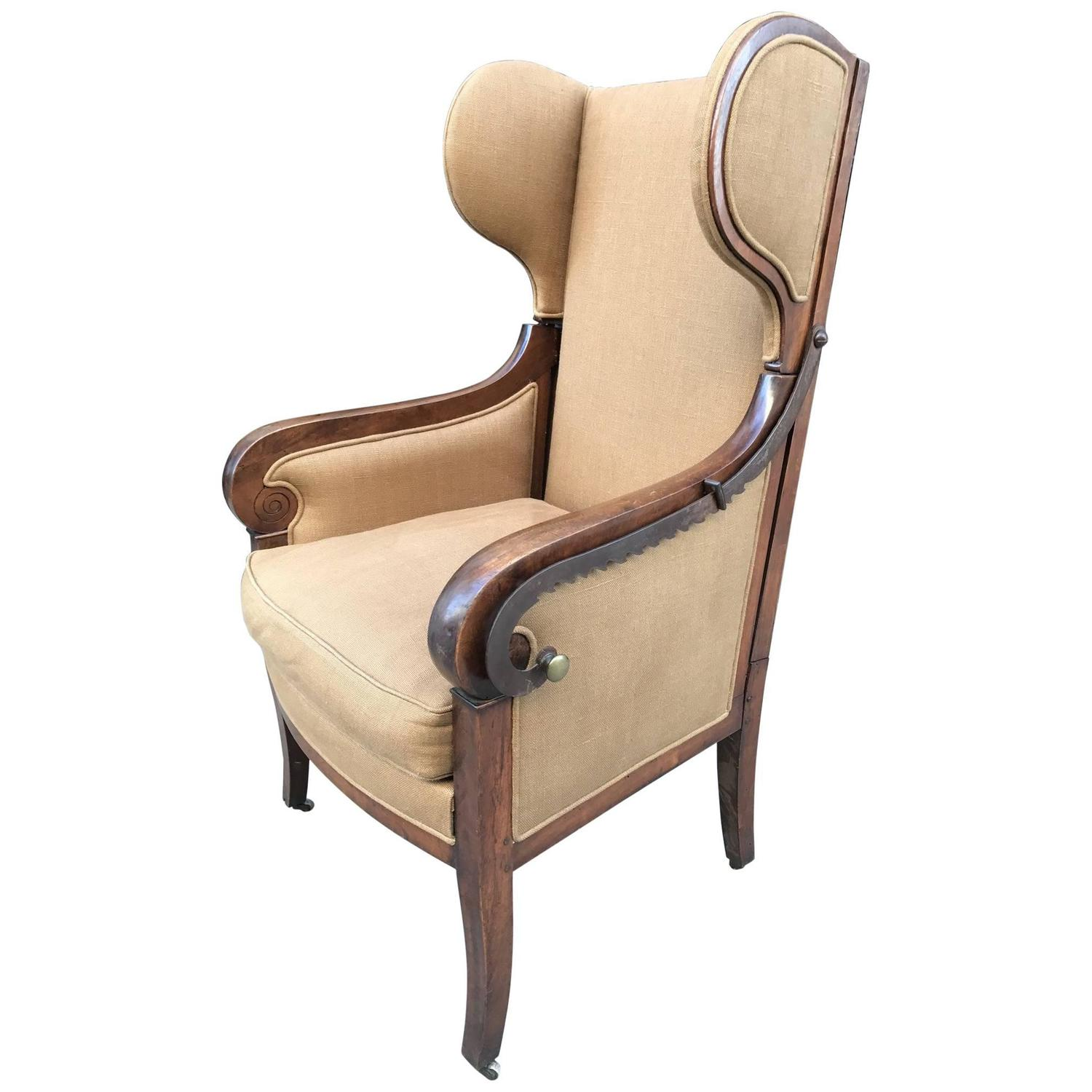 Antique Wicker Bar Harbor Wingback Chairs For Sale at 1stdibs